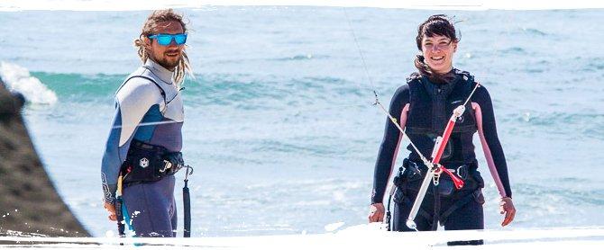 Spannung und Spaß garantiert beim Kitesurfen in Moledo!
