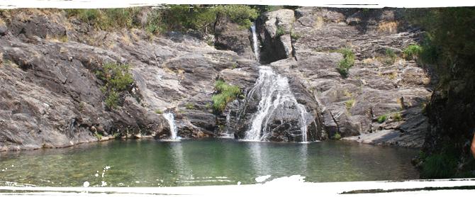 Portugal Moledo Wasserfall Angebot für Nicht-Surfer